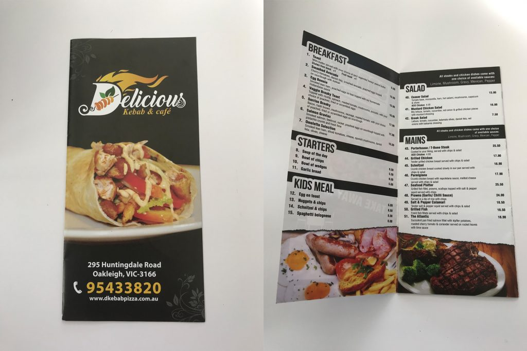Takeaway Menu Gallery