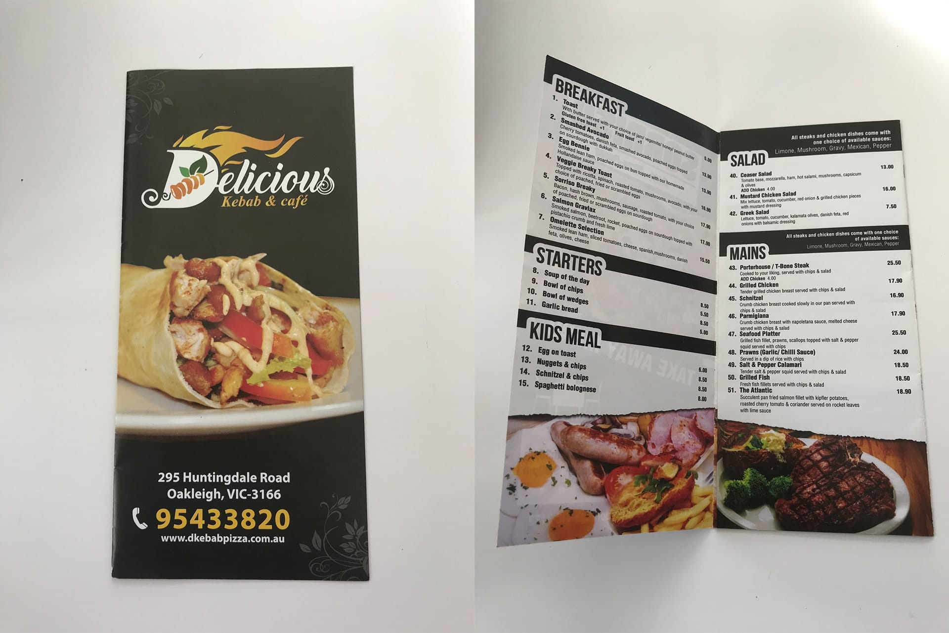 take away menu print pakenham